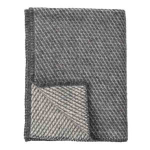 Ledikantdeken, velvet van Klippan, 90 x 130 cm grijs